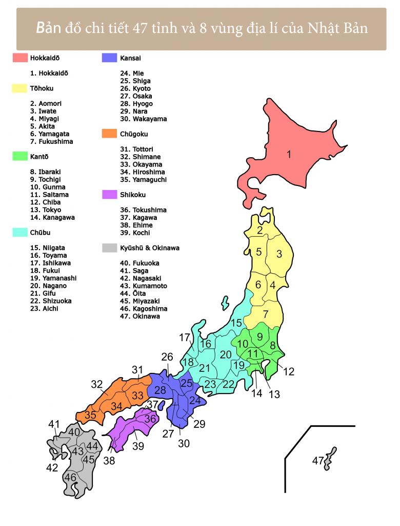 bản đồ của nhật bản
